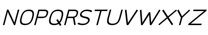 Logico Sans Italic Font UPPERCASE