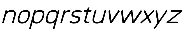 Logico Sans Italic Font LOWERCASE