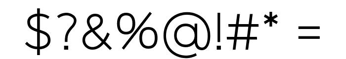 Logico Sans Light Font OTHER CHARS
