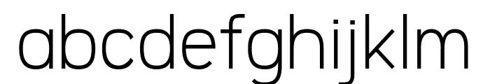 Logico Sans Light Font LOWERCASE