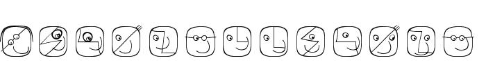LogoFacesArtists Font LOWERCASE
