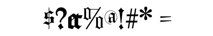 LombardPlattfuss Font OTHER CHARS