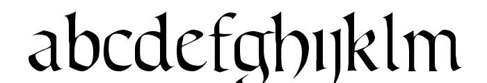 Lombardic Narrow Font LOWERCASE