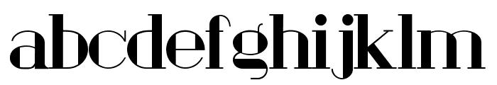 London Fill Bold Font LOWERCASE