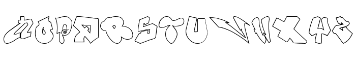 London Graffiti Alphabet Font UPPERCASE