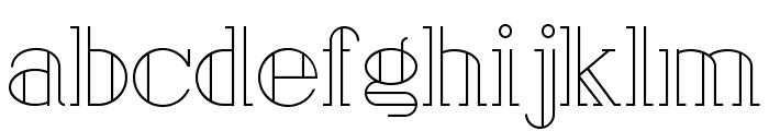 London Font LOWERCASE