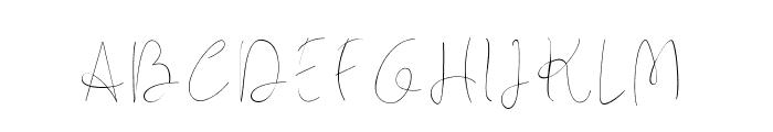 Longhair Font UPPERCASE