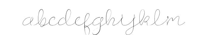 Longhair Font LOWERCASE