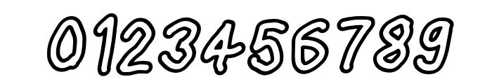 Loogie Hawk Outline Oblique Font OTHER CHARS