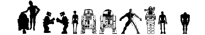 Look sir, droids! Font OTHER CHARS