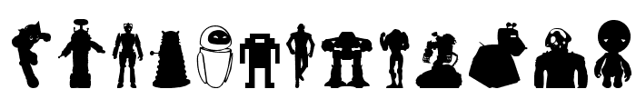 Look sir, droids! Font UPPERCASE