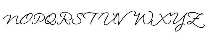 LoosieScript Font UPPERCASE