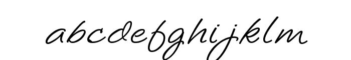 LoosieScript Font LOWERCASE