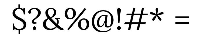 Lora Regular Font OTHER CHARS
