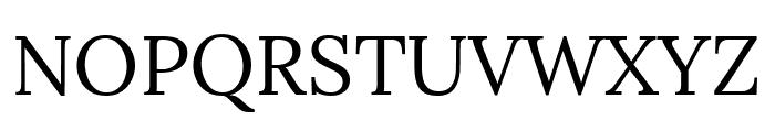 Lora Regular Font UPPERCASE