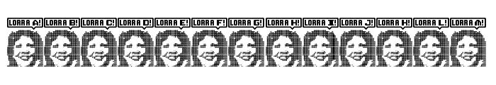 Lorra Lorra Dates! Regular Font UPPERCASE