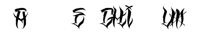 Los Angeles Homies Font UPPERCASE