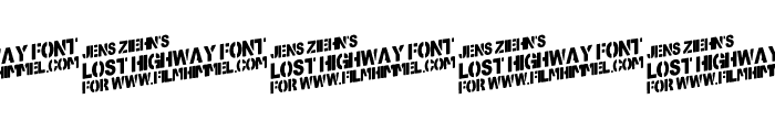 Lost-Highway Font OTHER CHARS
