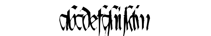 Lotharus Wide Top Font LOWERCASE