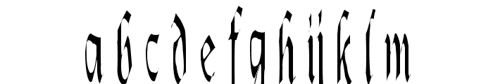 Lotharus Font LOWERCASE