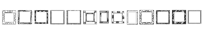 Lots of Frames Font UPPERCASE