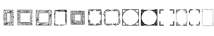 Lots of Frames Font LOWERCASE