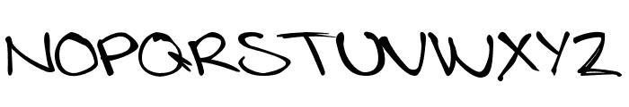 LotteByRue-Regular Font UPPERCASE