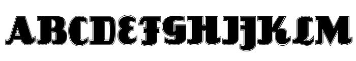 Louisianne Contour Black Font UPPERCASE