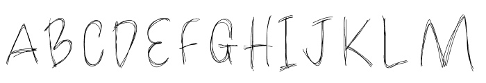 LoulousScribble Font UPPERCASE