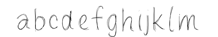 LoulousScribble Font LOWERCASE