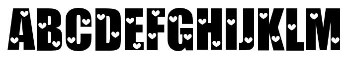 Love Letters Font UPPERCASE