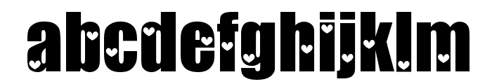 Love Letters Font LOWERCASE