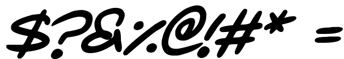 Love Marker Italic Font OTHER CHARS