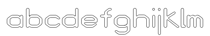 Love Parade outline Bold Font LOWERCASE