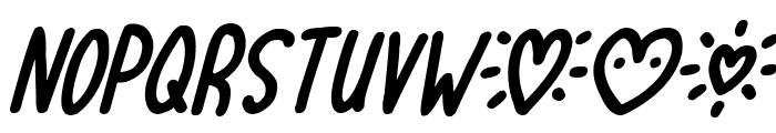 Lovehearts XYZ Italic Font UPPERCASE