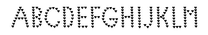 Lovelica Font UPPERCASE