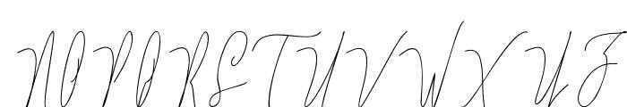 Lovellyana Free Font UPPERCASE