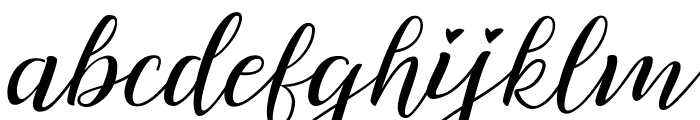 Lovely Day Personal Use Regular Font LOWERCASE