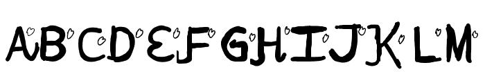 Lovely date Font UPPERCASE