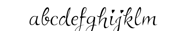 LovelyAudreyBG Font LOWERCASE