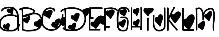 LovelyBitch Font UPPERCASE