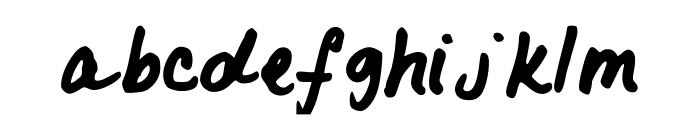 LovelyK Font LOWERCASE