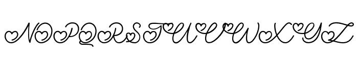 LovelyValentine Font UPPERCASE