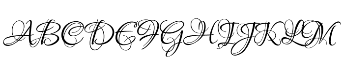 Lovers Quarrel Font UPPERCASE