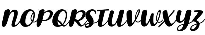 Lovina October Five Italic Font UPPERCASE