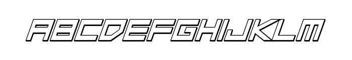 Low Gun Screen Bold Italic 3D Font LOWERCASE