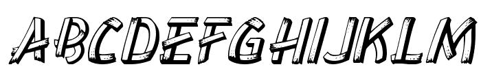 LowEa Italic Font UPPERCASE