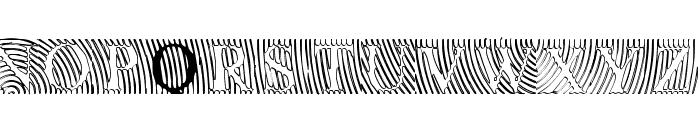 LowEngravedCapsHollow Font UPPERCASE