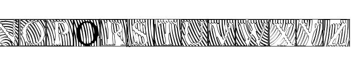 LowEngravedCapsHollow Font LOWERCASE