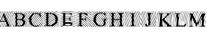 LowEngravedCapsLight Font UPPERCASE